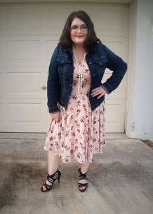 Denim Jacket and Party Dress