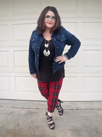 Denim and Plaid Leggings
