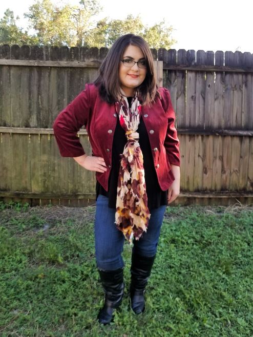 Fall jacket and scarf