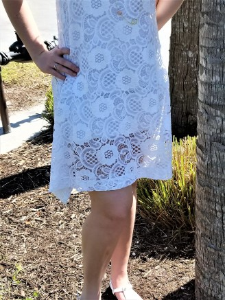 Hemline of Lace Dress