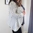 striped FTF blazer